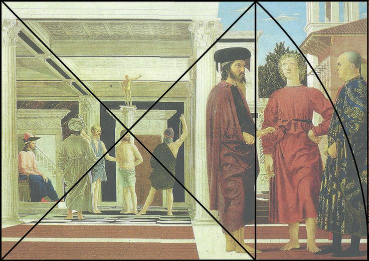 Construction du format harmonique du tableau de La Flagellation du Christ de Piero della Francesca