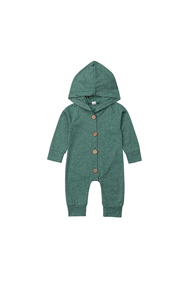 Newborn Baby Boy Girl Autumn Clothes Long Sleeve Hooded Romper Jumpsuit Outfits