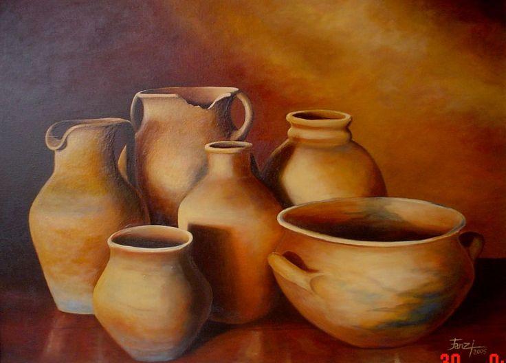 Resultado de imagen para bodegones modernos con vasijas de barro
