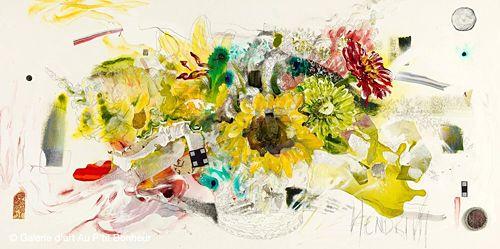 Maryann Hendriks, 'Talking About Uggie', 24'' x 48''   Galerie d'art - Au P'tit Bonheur - Art Gallery