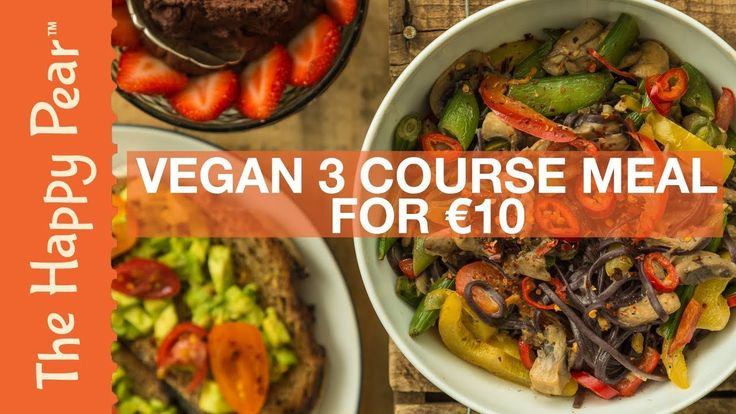 VEGAN 3 COURSE MEAL FOR UNDER 10 EURO