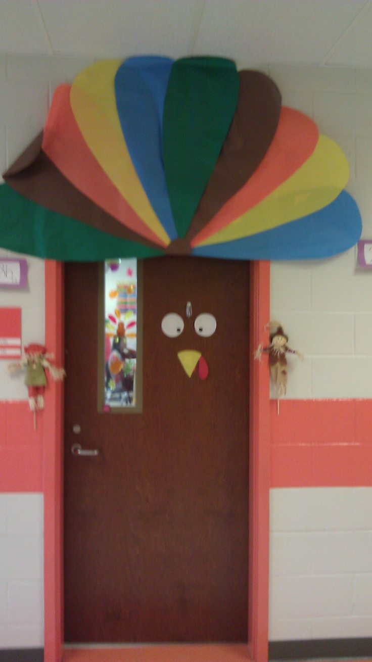 Turkey door for Thanksgiving & 33 best Bulletin Boards/Doors images on Pinterest | Classroom door ... Pezcame.Com