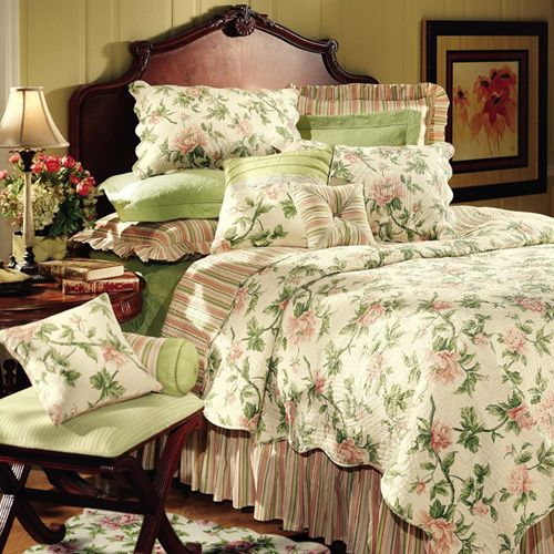 Forest Trail Green Full/Queen Matelasse Coverlet By C & F