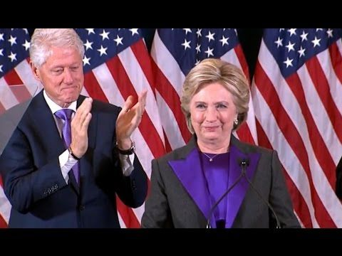 11/09/16 Interesting video to analyze, especially towards the end when Hillary is mingling. John Podesta seems to snub her. Bill and Chelsea seem to disappear. Huma Abedin stays about three to four shoulders away from Hillary. Hillary Clinton FULL Concession Speech | Election 2016 - YouTube