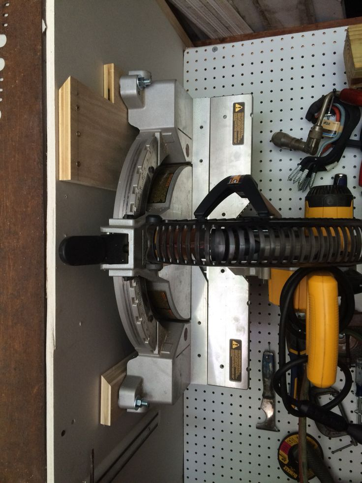 Storing A Compound Miter Saw On The Wall Using French