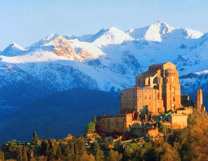 The Sacra di San Michele, half an hour from Turin by road or rail, is without doubt the highlight of the Val di Susa. It is also one of the most important historical buildings in Piedmont and Italy. The monastery is surrounded by legend and mystery. . It looms menacingly over the entrance to the Val di Susa and the plains of Turin below.