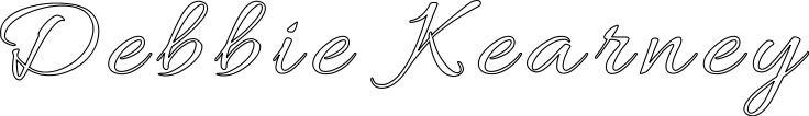 """Debbie Kearney"" stencil. Print, customize, or make your own free at http://RapidResizer.com/stencil (Allura font by Typesetit) #stencils #RapidResizer"