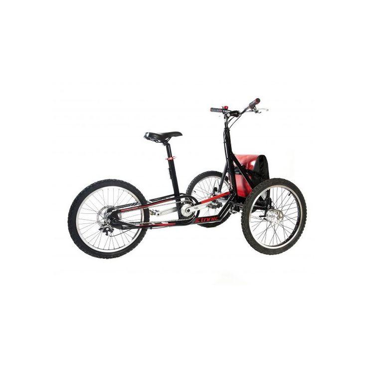 El triciclo para adulto Etnnic Off Road es electrico y disenado para desplazamientos por cualquier terreno. El triciclo esta disponible con o sin motor.