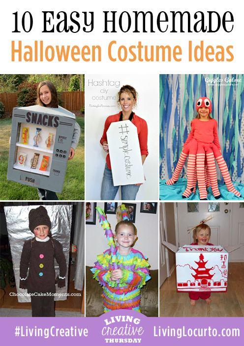 10 Easy Homemade Halloween Costumes! #halloween #costumes