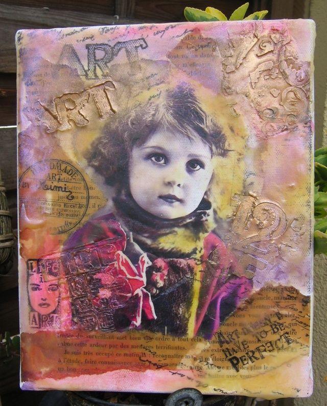 Tranfert a picture on a fabric frame, tuto in frensh  tranférer une photo sur toile, tuto en français