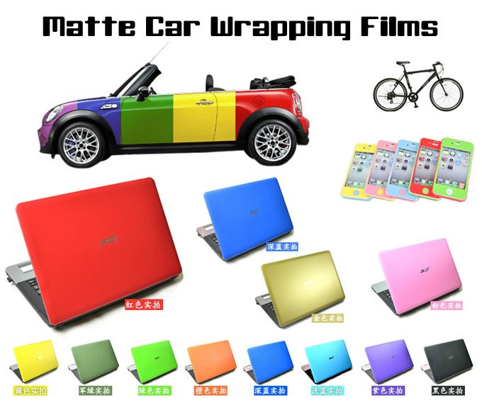 Matte Car Wraps Vinyl Film - Matte Coffee/Brown/Chocolate Car Wrapping Film
