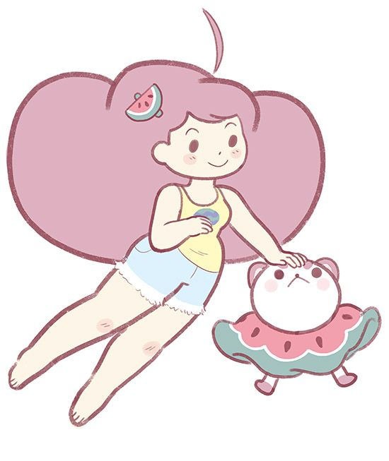 beckyandfrank: I've been really enjoying drawing Puppycat with no body! Also thanks to everyone who came out and saw us at VanCAF! We had the best time!