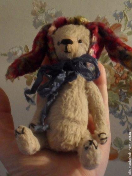 Мишка-тедди Малыш 13 см. - бежевый,мишка тедди,мини мишки,плюш винтажный