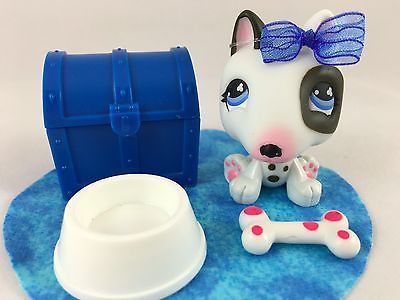 Littlest Pet Shop RARE Black & White Bull Terrier NO # Journal Pet w/Accessories in Toys & Hobbies, Preschool Toys & Pretend Play, Littlest Pet Shop | eBay
