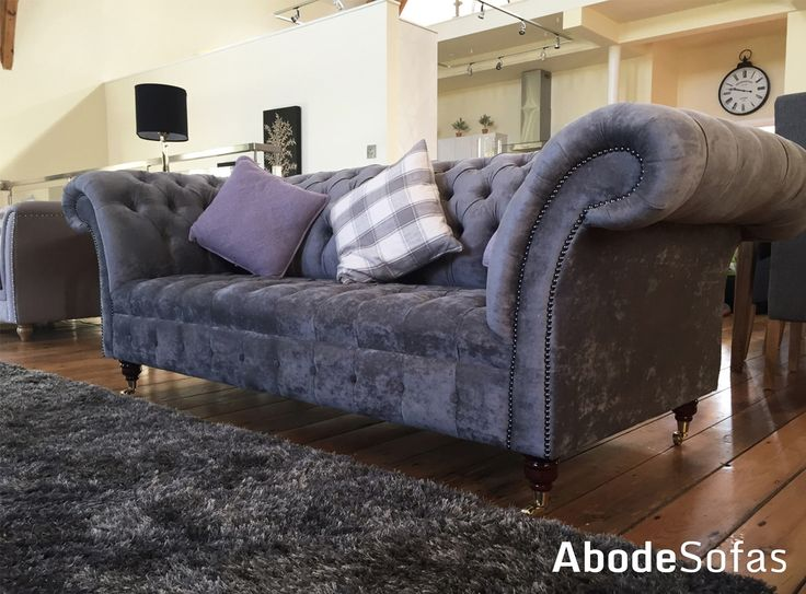 The Chapel in Sparksbridge is an exquisite family holiday home. Our Naples Slate Belmont was the perfect choice for this luxury home | Abode Sofas