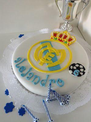 Tarta Real Madrid con fondant