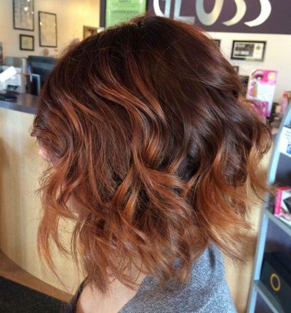 Auburn hair coloring (Melanie Sokoloski)