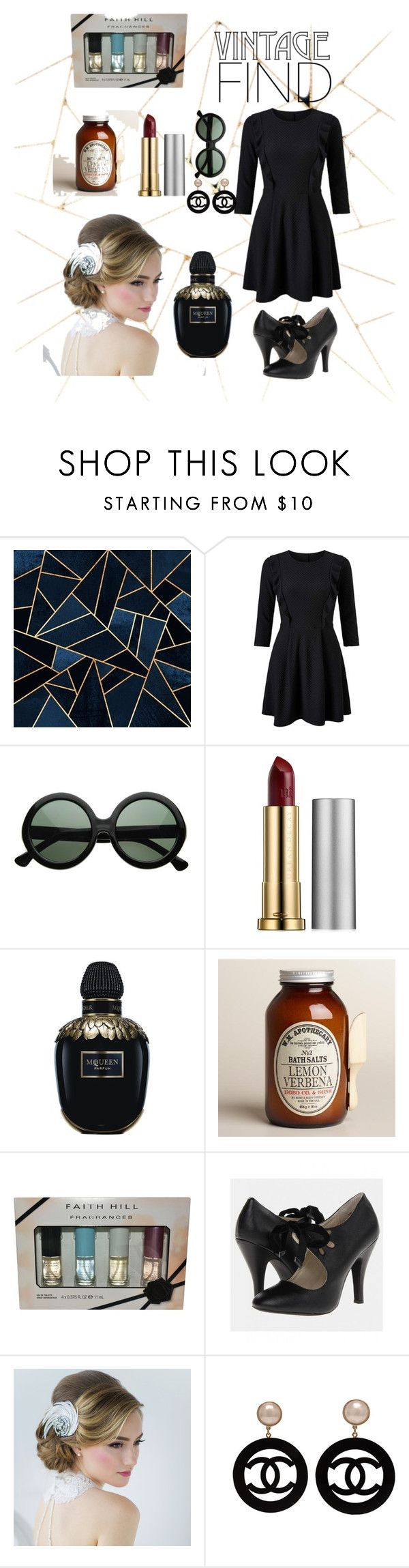 """vintage"" by kiajeje ❤ liked on Polyvore featuring Miss Selfridge, Urban Decay, Alexander McQueen, Cost Plus World Market, Chanel, vintage and MyStyle"