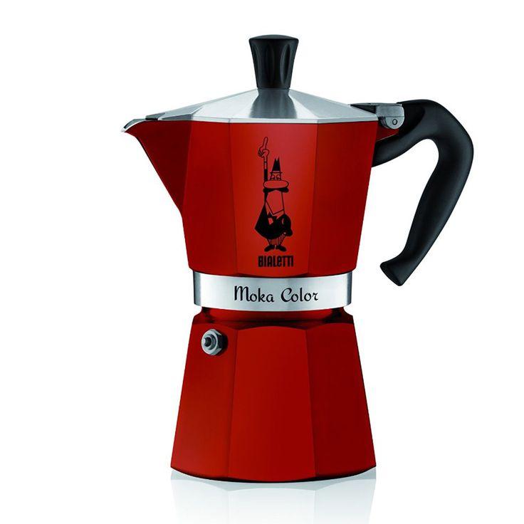 Personal Edge : Bialetti 06905 6-Cup Espresso Maker Moka - Red