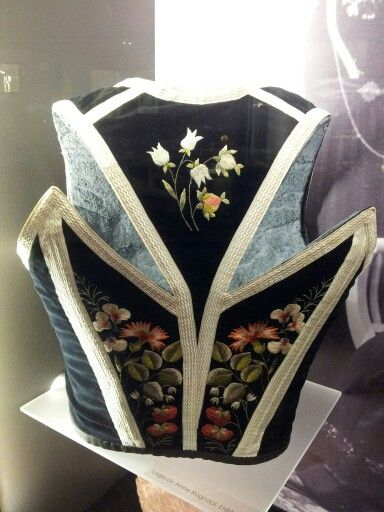 Bodice from a bunad from Vest-Telemark (Seljord), Norway.
