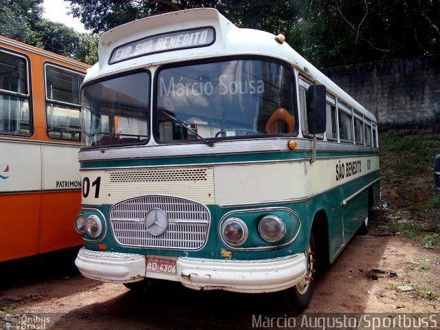 Ônibus da empresa Empresa São Benedito, carro 001, carroceria CAIO Bossa Nova, chassi Mercedes-Benz LP-321. Foto na cidade de São Luís-MA por Márcio Augusto/SportbusS, publicada em 11/07/2015 17:45:32.