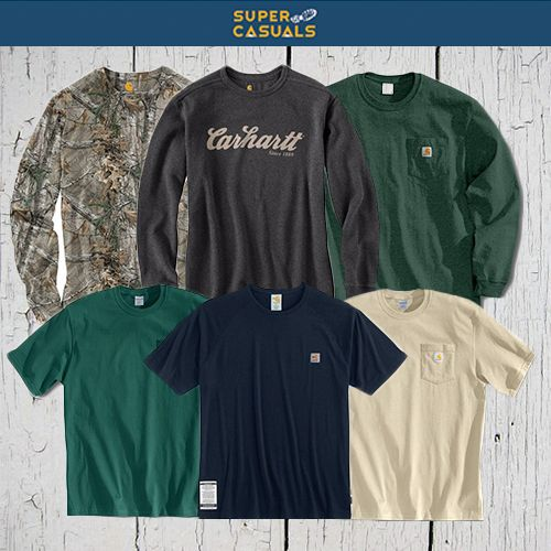 When you feel good, you look good. Grab a few comfortable and stylish Carhartt work shirts in time for summer.