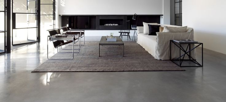 Polished concrete floor in a prestigious Sydney residence