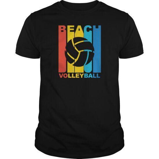 Vintage Beach Volleyball Graphic Vintage Beach Volleyball Custom Shirts
