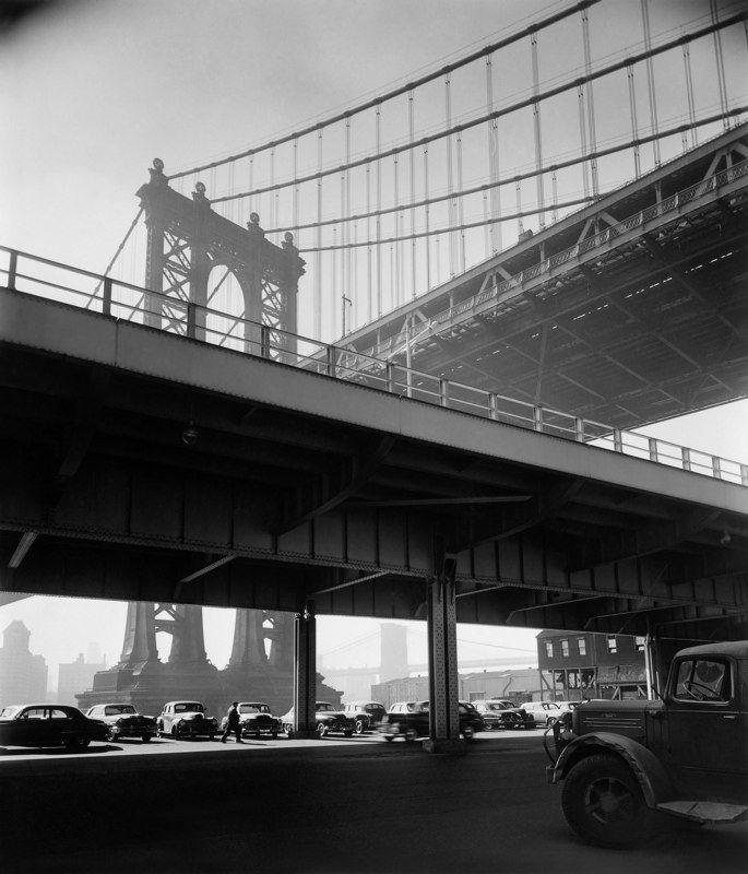 berenice abbott photography | Berenice Abbott: Triple Bridge , New York, 1950