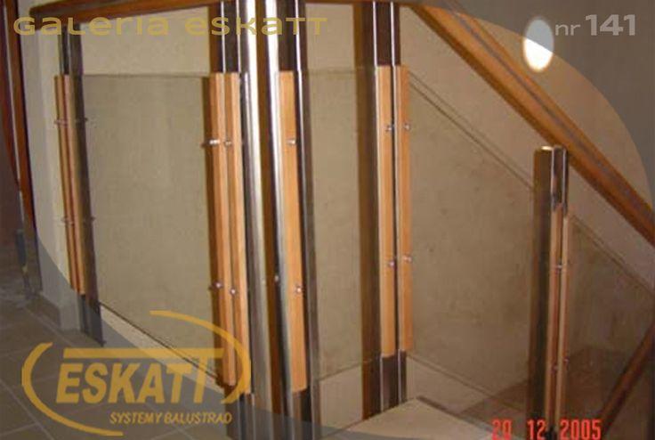 Stainless steel and wood glass balustradę #balustrade #eskatt #construction #stairs