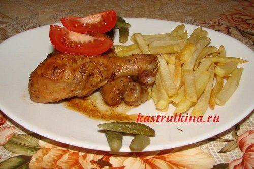 Куриные ножки с медом, запеченные в духовке