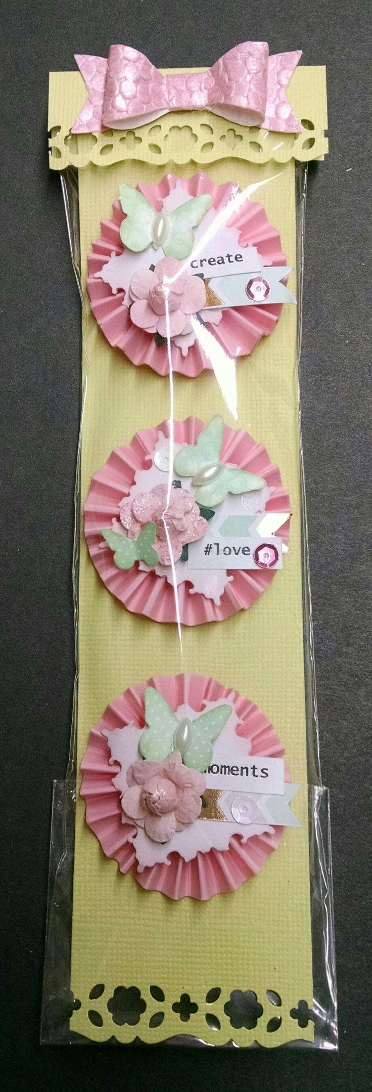 How to make scrapbook decorations - Mini Rosette Embellishments