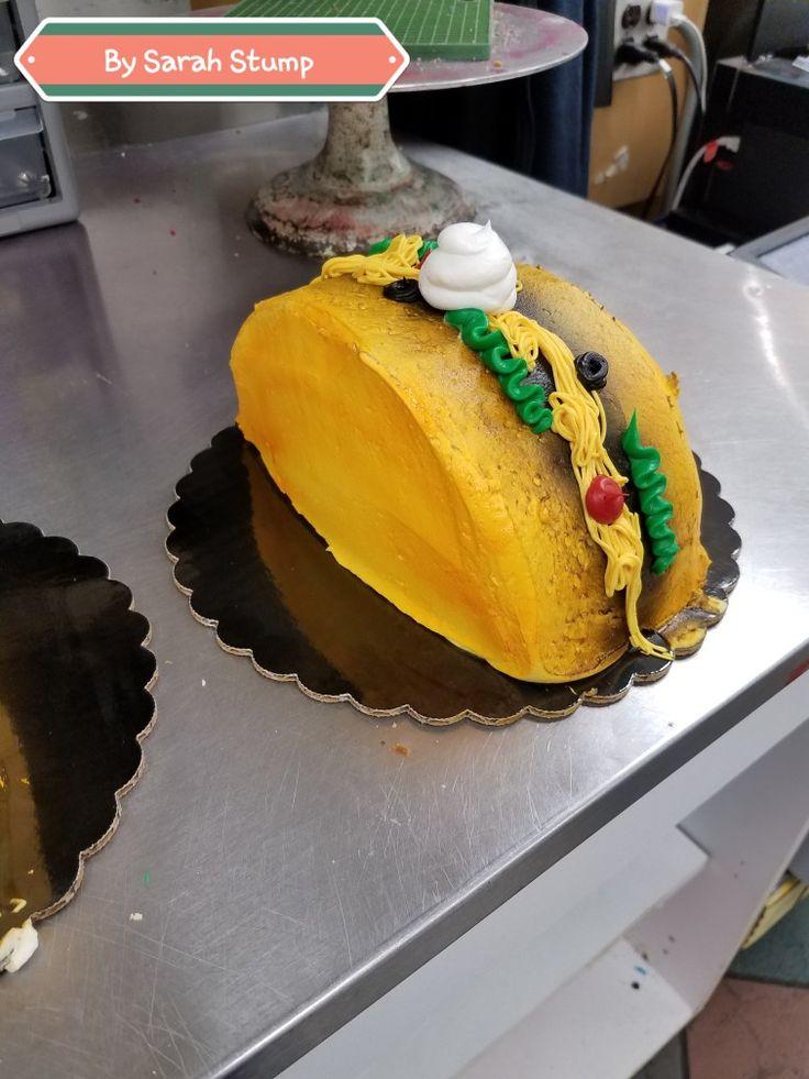 Taco cake cinco de mayo- buttercream by Sarah Stump