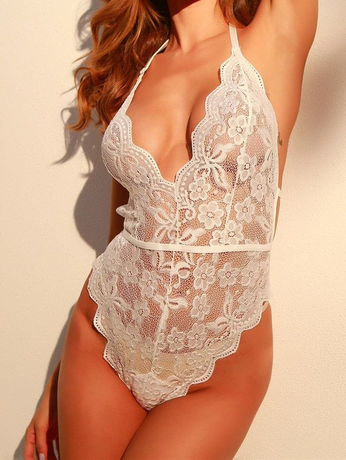 Backless High Cut Lace Sheer Bodysuit #Ad , #SPONSORED, #Cut, #High, #Backless, 2