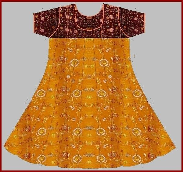 Using basic Anarkali top bodice draft various other styles of Anarkali tops can be drafted .Anarkali top with panels is one of them. Even i...