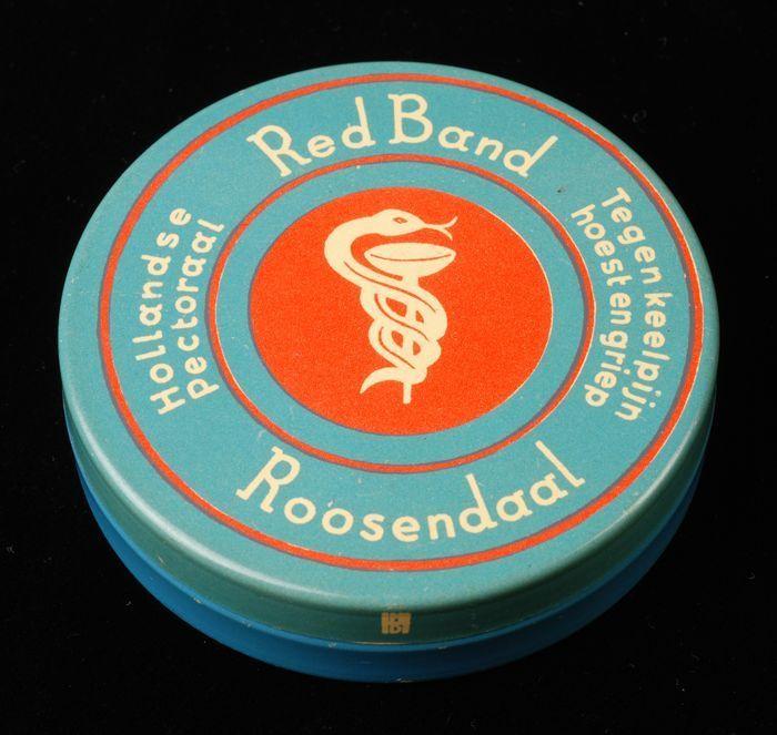 """Blik met los deksel, """"Red Band Hollandse Pectoraal"""", lichtblauw"""