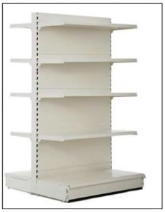 High gondola shelving 1.8m-2.1m for retail stores