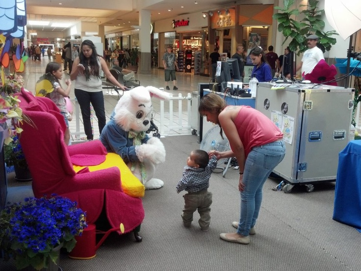 First steps toward the Easter Bunny ~ BASSETT HAS IT ... Easter Bunny and FREE movies, coloring, lolly pops & BUNNY EARS for your little Bunnies Bassett Place!!! 2013