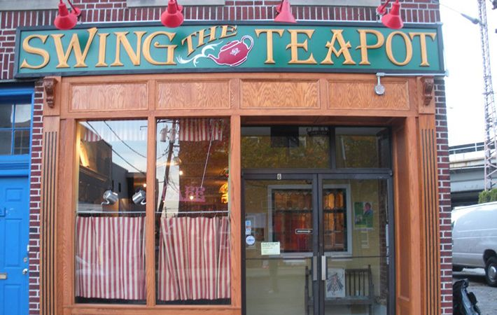"The name ""Swing the Teapot"" recalls the old Irish custom of a communal cup of tea and to ""swing the teapot"" means pass the teapot to the next person."