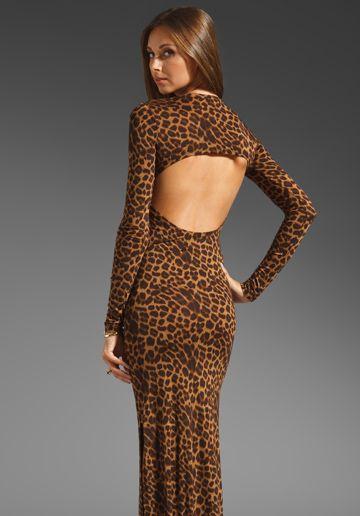 Blu Moon Open Back Long Sleeve Maxi Dress in Leopard  Price: $136  www.revolveclothing.com