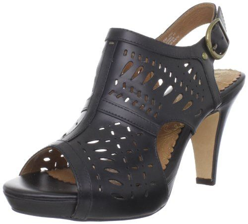 indigo by Clarks Women`s Luna Orbit Sandal,Black M US