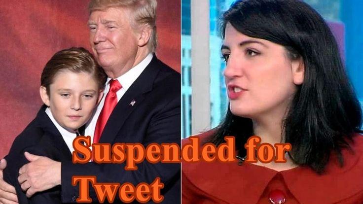 Katie Rich  Suspended for Tweet Mocking   Barron Trump _BREAKING NEWS https://youtu.be/c_EART5MLDI
