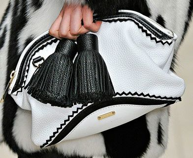 Burberry runway bag ...I held it in my hot little hands, it was super fab.