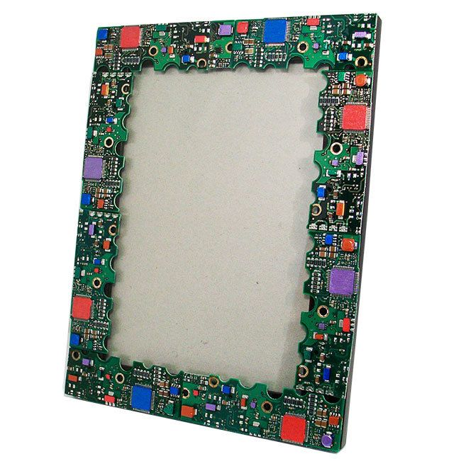 TecoChic Picture Frame made from Recycled Computer Circuit Boards (H). $39.00, via Etsy.