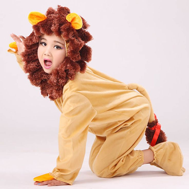 Wizard of Oz Cowardly Lion Costume Toddler Baby Lion Costume Dress Up Animal Onesie Leotard Jumpsuit Carnival Costume for Kids #Affiliate