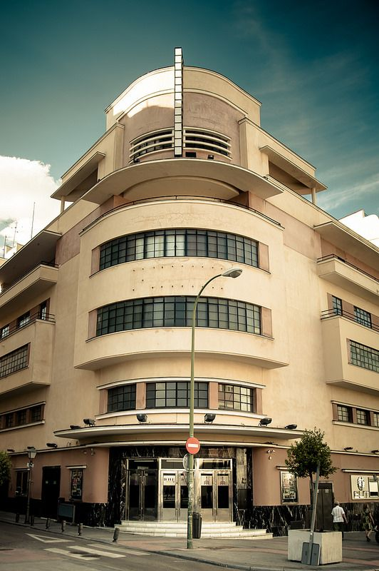 Antiguo cine barcel madrid luis guti rrez soto 1930 - Art deco espana ...