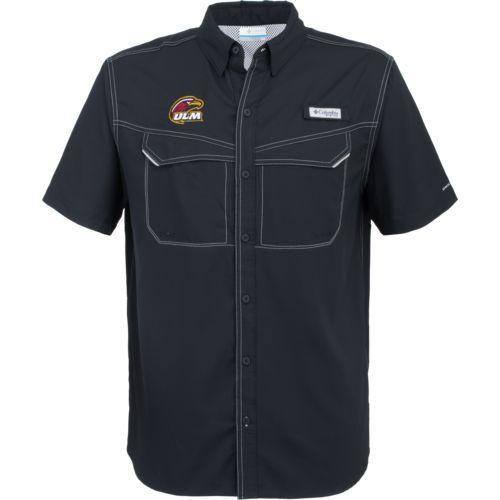 Columbia Sportswear Men's University of Louisiana at Monroe Low Drag Offshore Short Sleeve Shirt (Black, Size