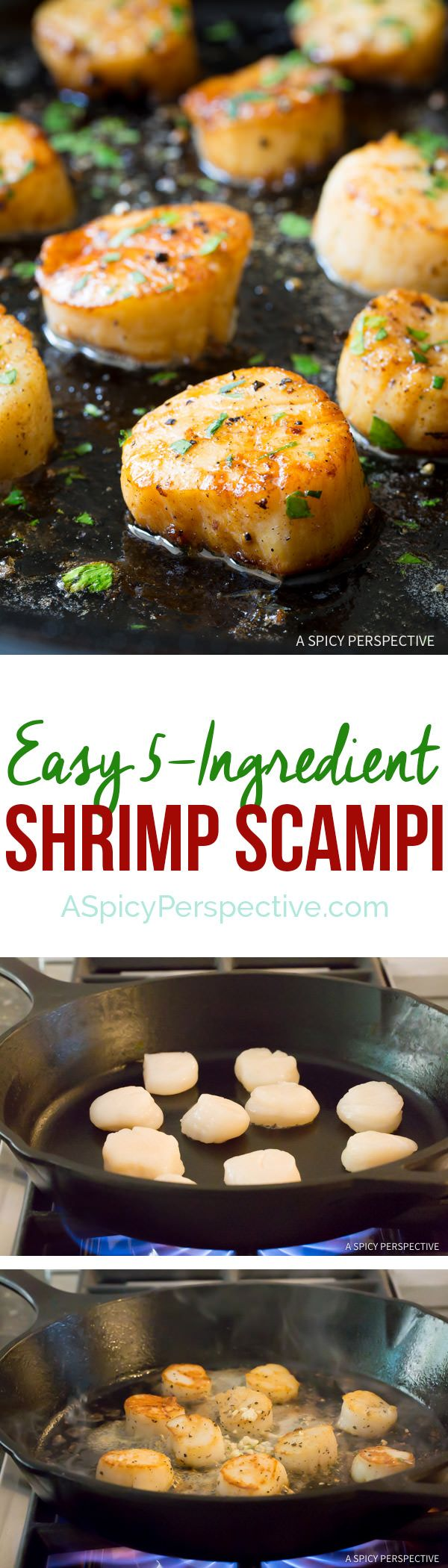 Healthy 5-Ingredient Easy Scallop Scampi Recipe   ASpicyPerspective.com