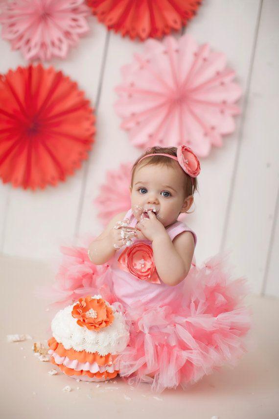 Baby Girls Birthday Tutu Dress Outfit Christmas by StrawberrieRose