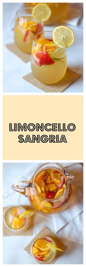 This limoncello sangria is light, fizzy, and refreshing. So quick and simple to make!